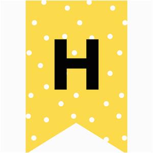 Happy Birthday Banner Printable Yellow Happy Birthday Banners Buntings Free Printable Cute