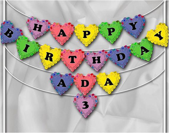 diy printable happy birthday banner name
