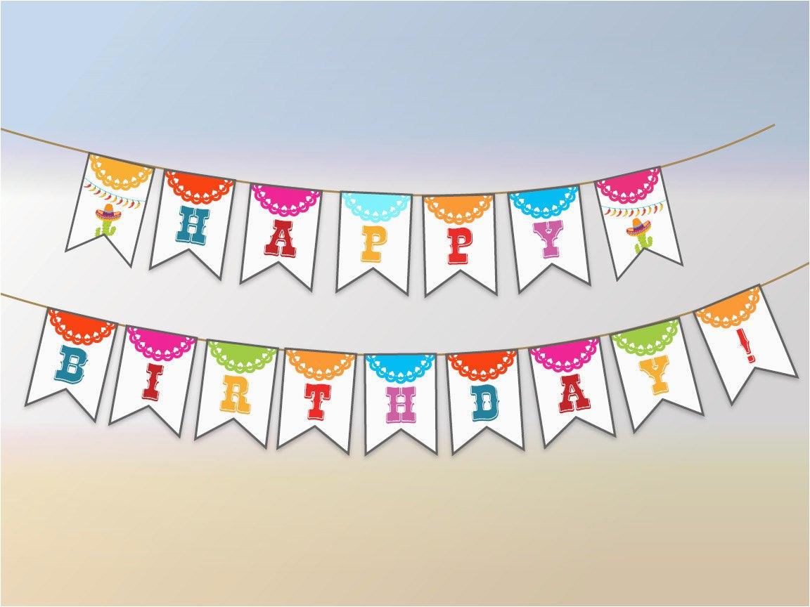 fiesta party banner printable fiesta