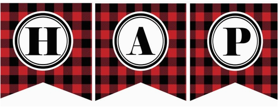 instant download red black buffalo plaid 3