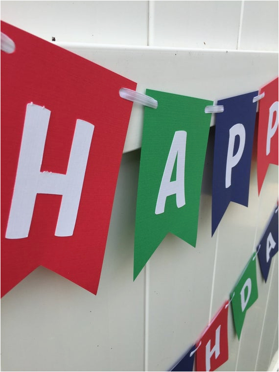happy birthday banner red blue green and