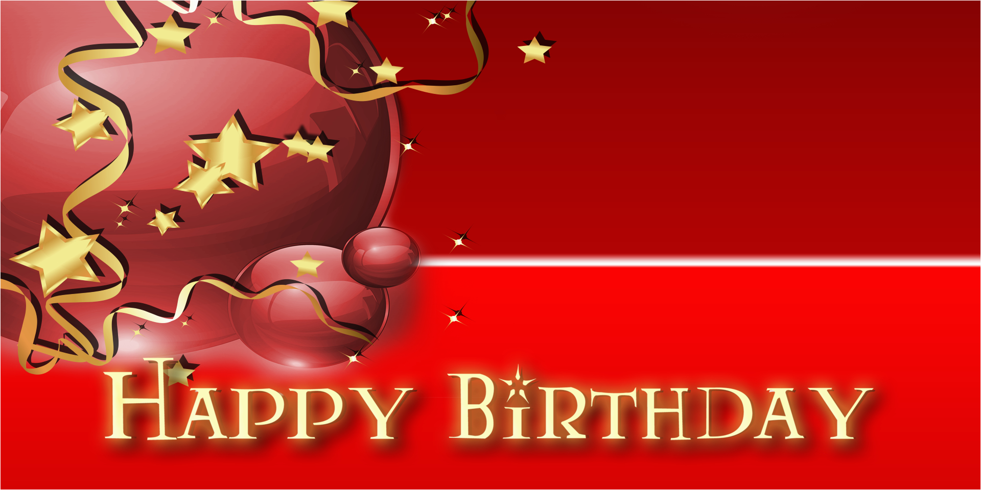 birthday star balloon red 2