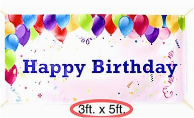 Happy Birthday Banner Reusable Happy Birthday Banner Party Decorations Vinyl Sign 4 Hole