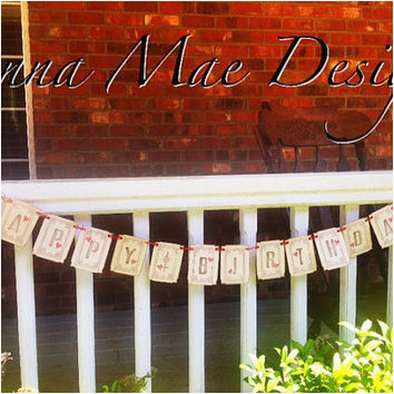 Happy Birthday Banner Rustic Rustic Happy Birthday Banner In Chocolate From