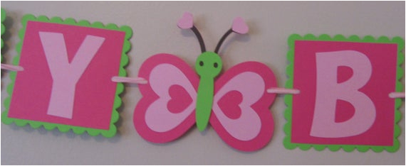 small butterfly happy birthday banner