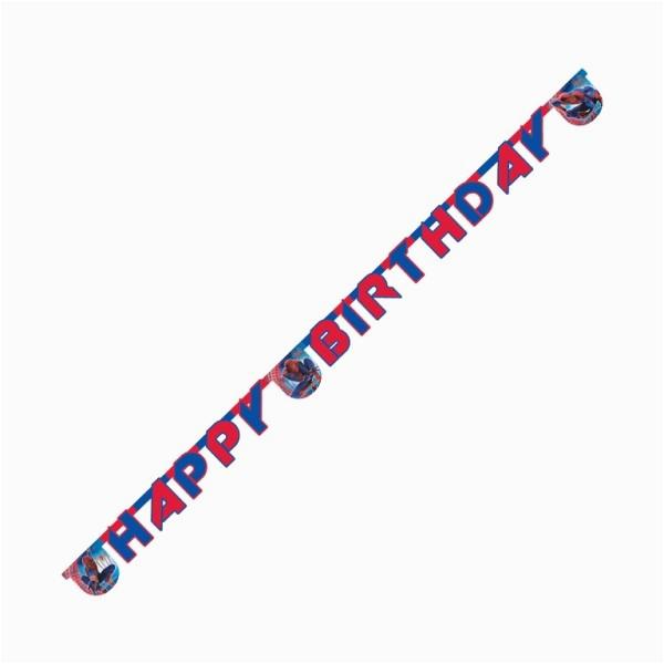spider man happy birthday banner