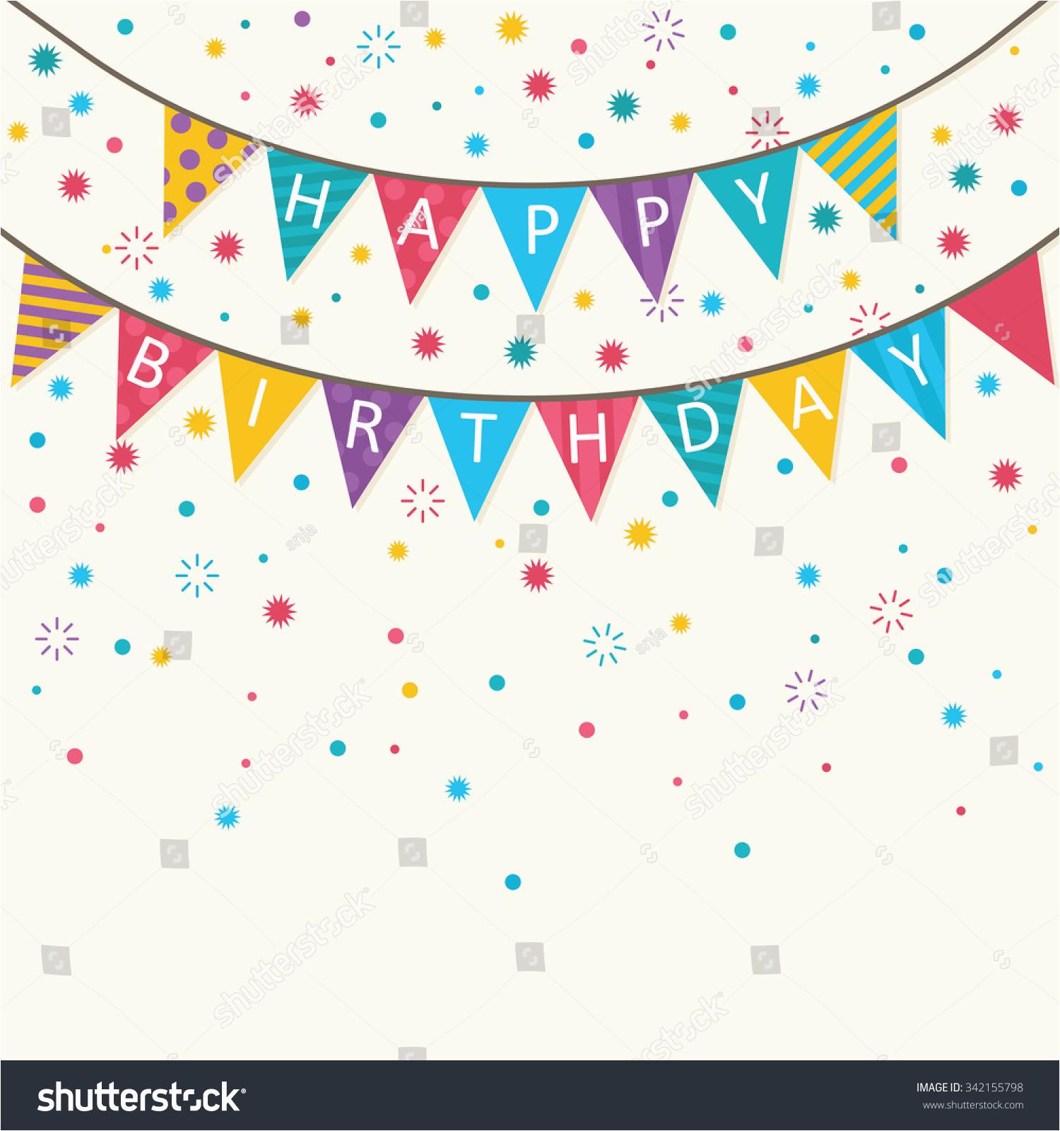 Happy Birthday Banner Svg Free Happy Birthday Vector Birthday Card Party Stock Vector