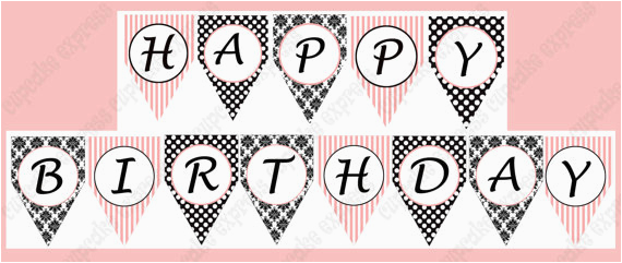 post paris party birthday banner free printables 278083