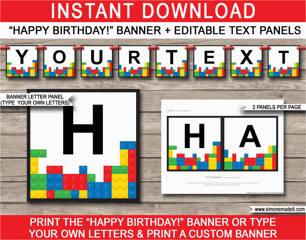 lego party banner template