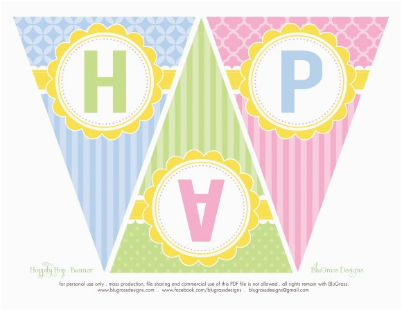 free easter party printables from blugrass designs