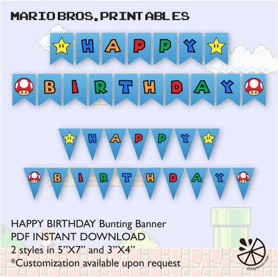 super mario brother birthday party