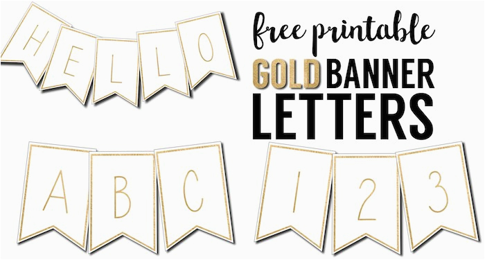 free printable banner letters template
