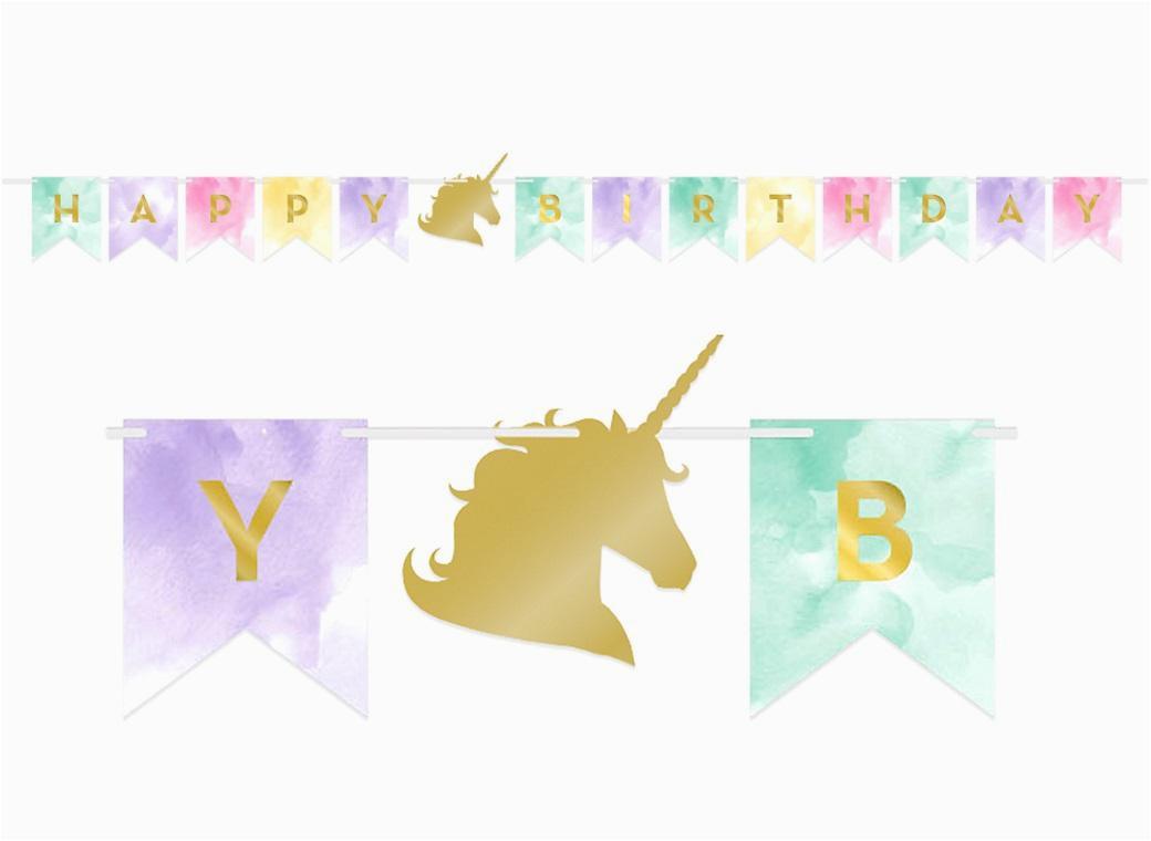 Happy Birthday Banner Unicorn Printable Unicorn Party Supplies Sweet Pea Parties