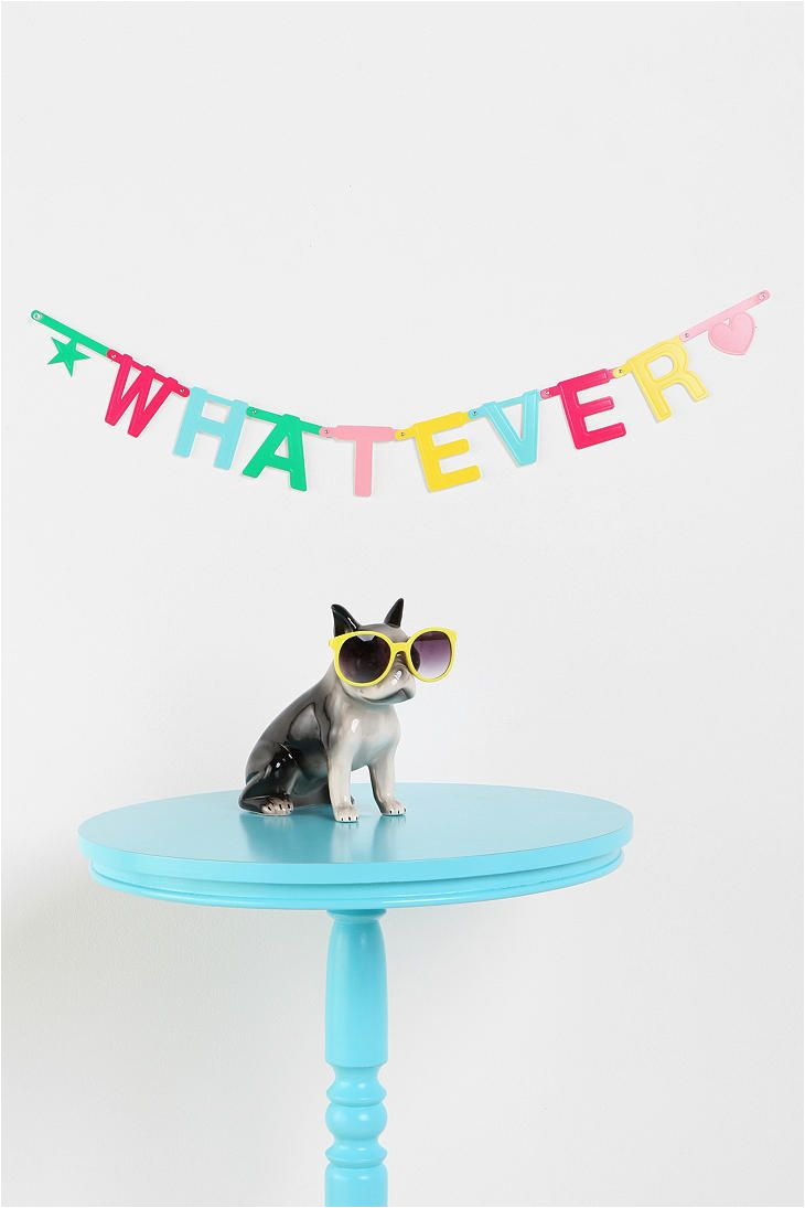Happy Birthday Banner Urban Outfitters Blue Grey Pillow 125 5 Cute Kitsch and Funny Cosas