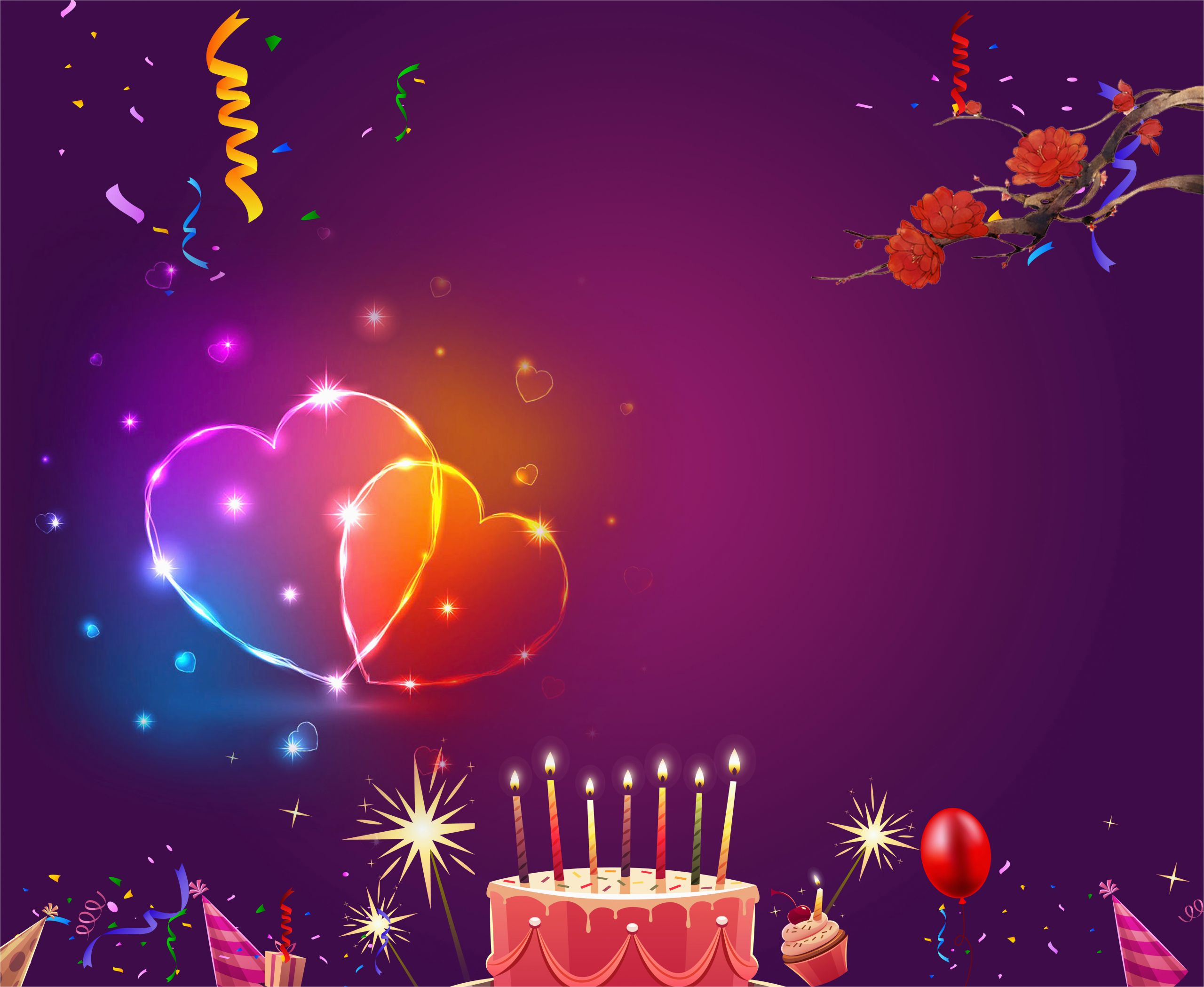 birthday poster background material 619091