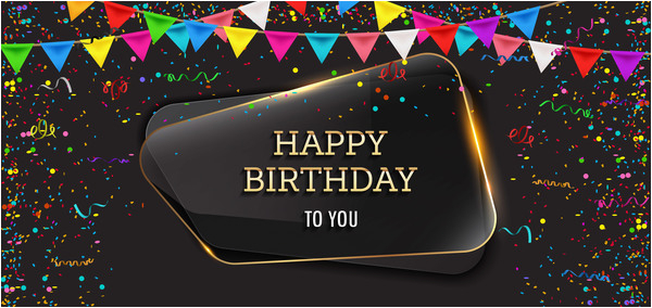 Happy Birthday Banner Wallpaper Background Happy Birthday Background with Glass Banner Vectors 09