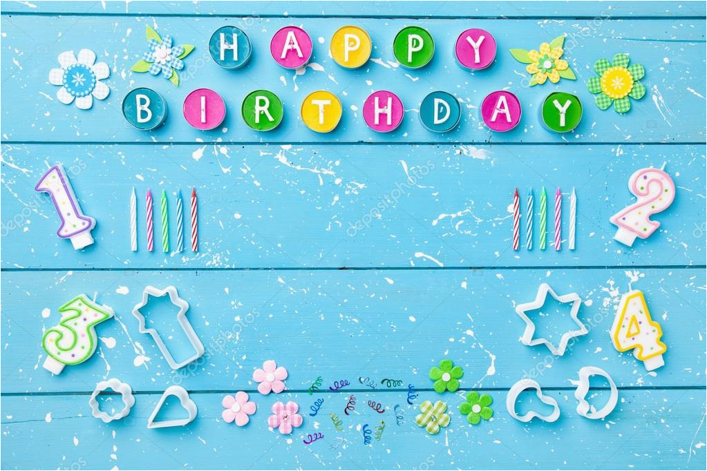 stock photo colorful happy birthday background