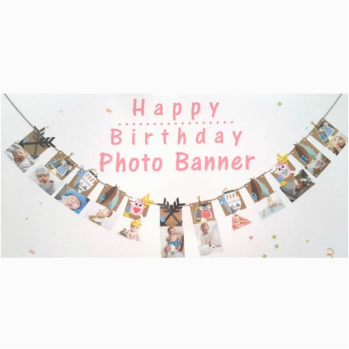 1st happy birthday party 1 12 months baby shower banner bunting photo decorations