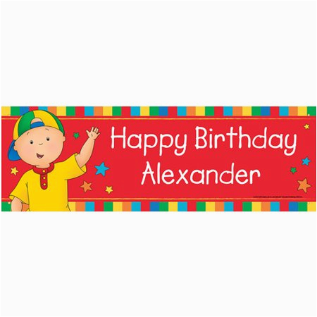 Happy Birthday Banners at Walmart Personalized Caillou Happy Birthday Banner Walmart Com