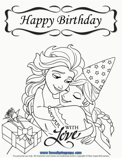 disney frozen birthday coloring pages