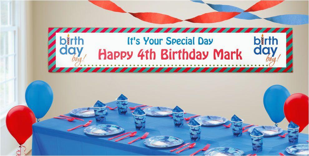 Happy Birthday Banners Custom Custom Boys 39 Happy Birthday Banners Party City