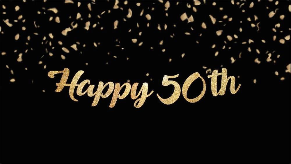happy 50th birthday banner custom