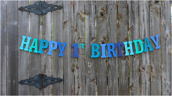 happy 1st birthday banner personalized