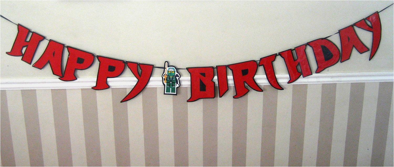 Happy Birthday Banners Etsy Ninja Font Happy Birthday Banner Giant Size by Devany On Etsy