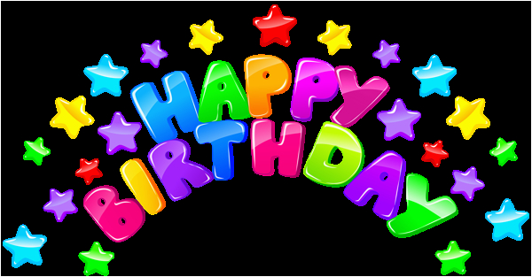 happy birthday decor with stars png clip art image