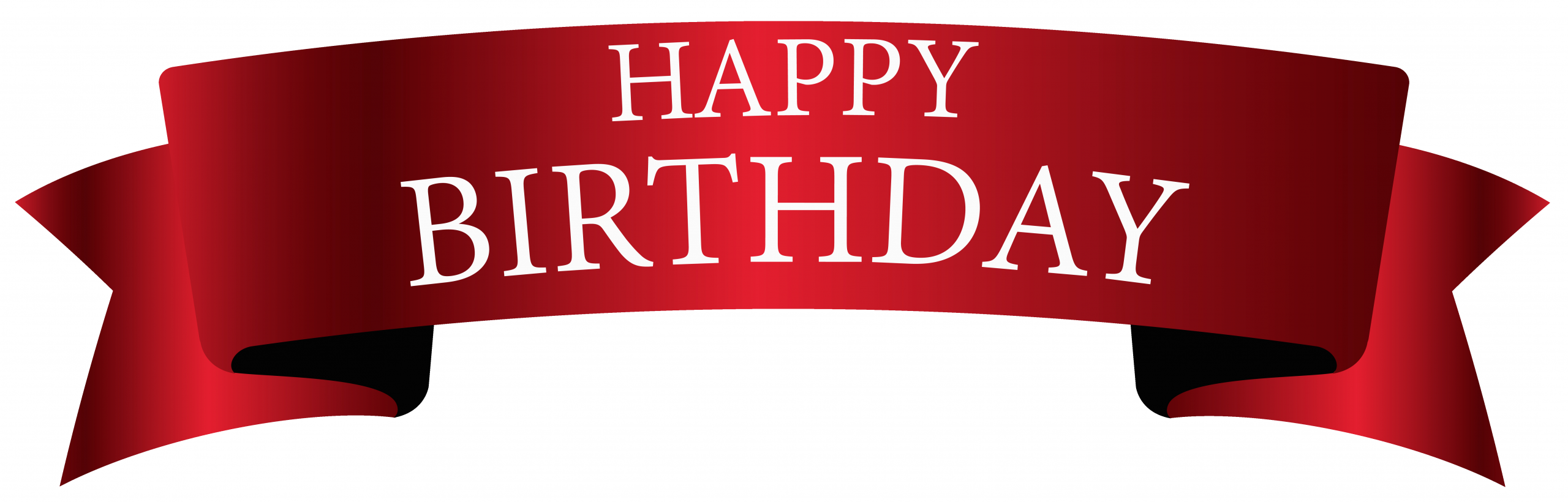 red birthday banner png clipart image