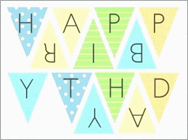 happy birthday banner template printable