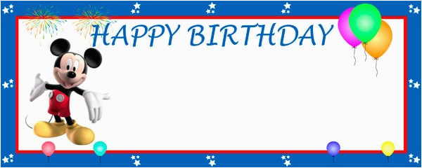 happy birthday mickeys clubhouse design personalised banner