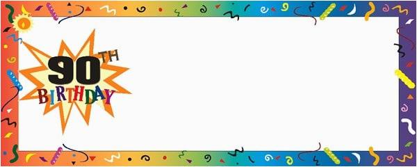 happy 90th birthday confetti personalised banner