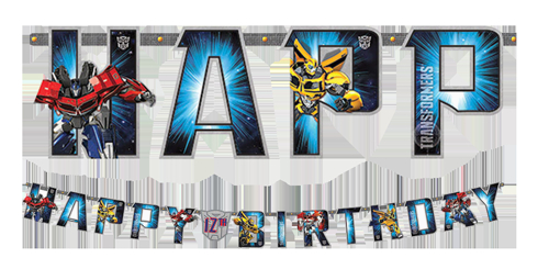 transformers add an age happy birthday banner