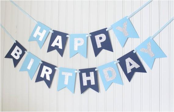 silver navy blue happy 1st birthday