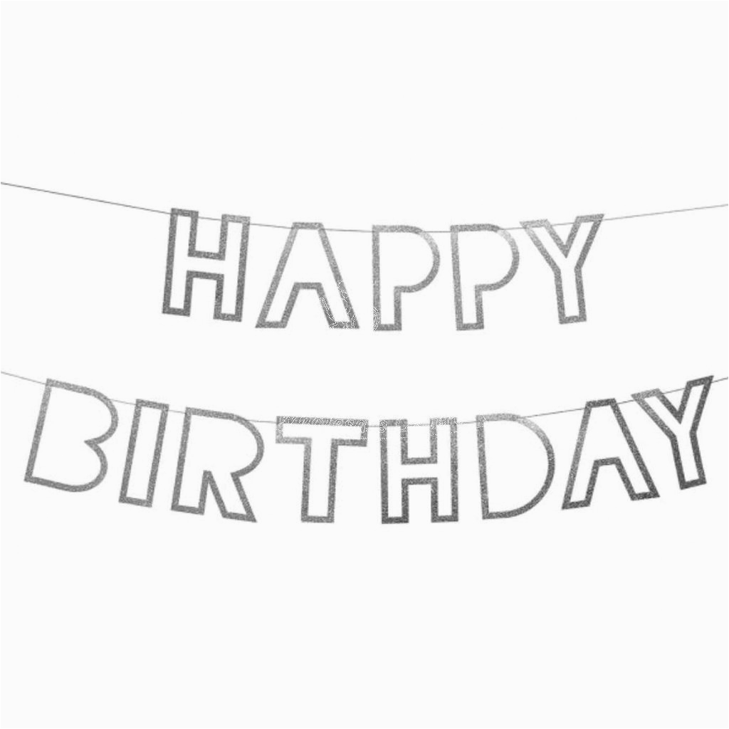 shiny happy birthday banner bunting clone