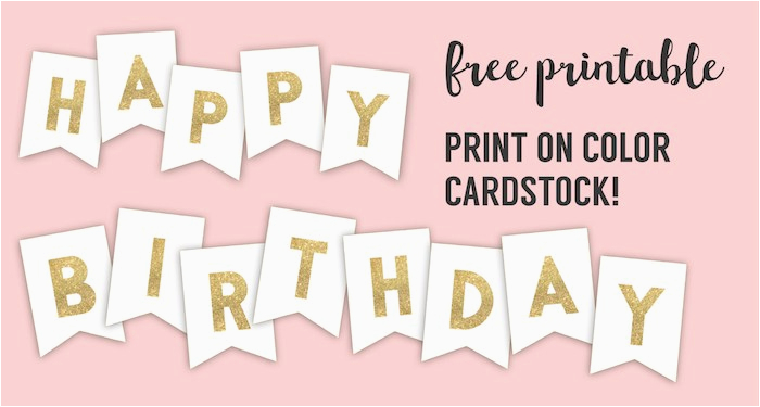 happy birthday banner printable template