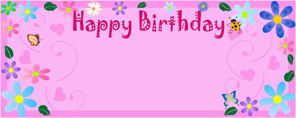 birthday flower happy birthday design personalised banner