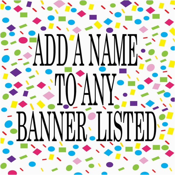 add a name banner to any banner listed