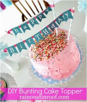diy birthday party banner tutorial 2