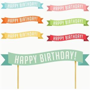 Happy Birthday Cake Banner Free Printable Happy Birthday Cake Banner Printable Printable 360 Degree