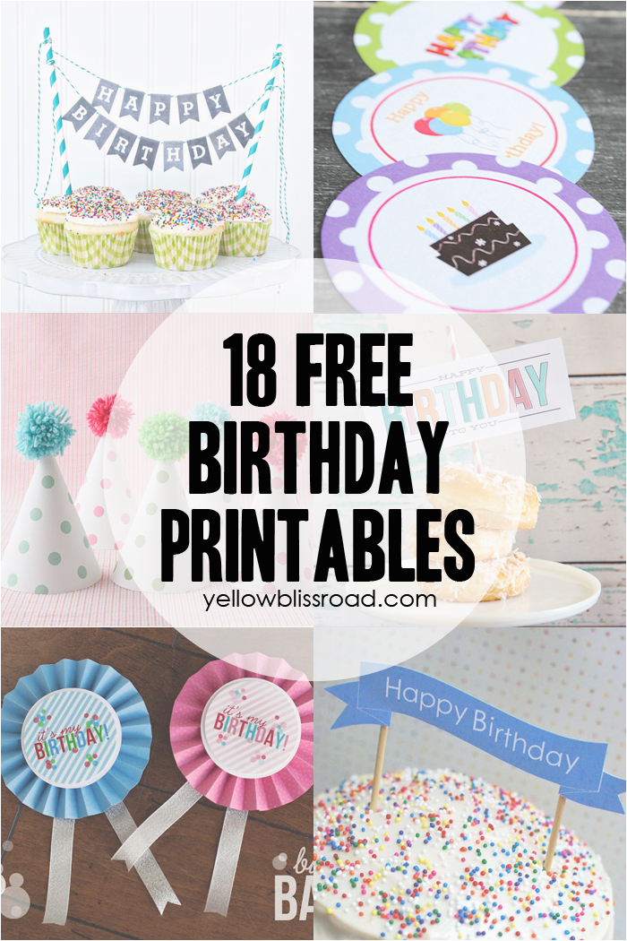 37 birthday printables cakes giveaway