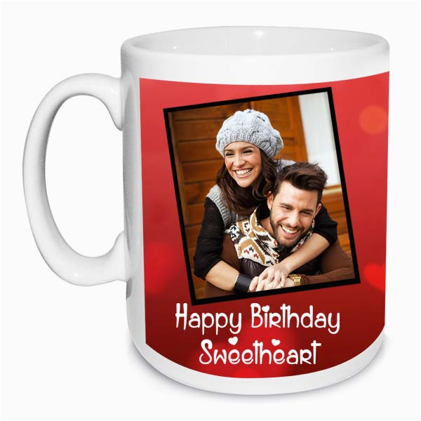 happy birthday sweetheart photo mug