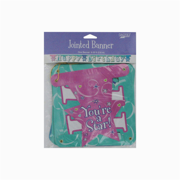 happy birthday jointed banner for girls