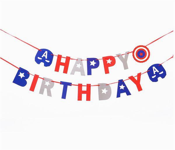 happy birthday banner captain america