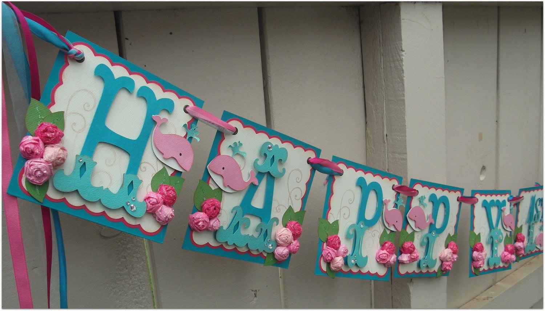 happy birthday banner handmade banner