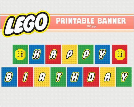 lego banner printable clipart digital