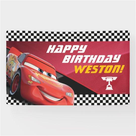 cars lightning mcqueen birthday banner 256963734384148408