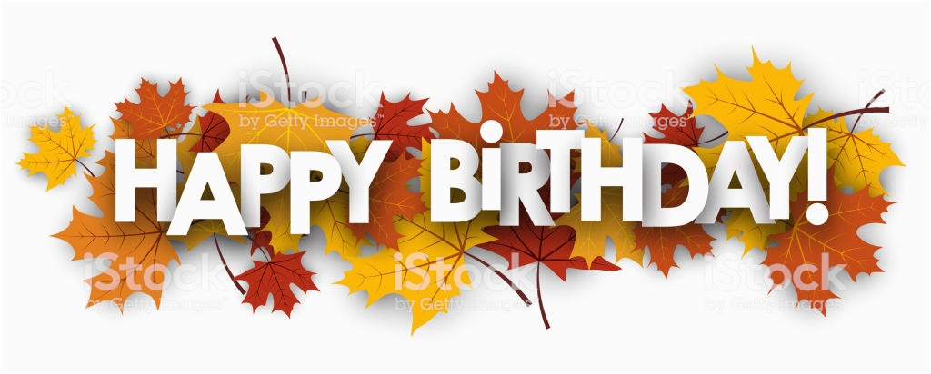 happy birthday banner with leaves gm859759808 142151805
