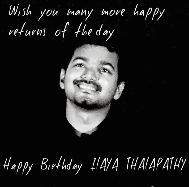 39th birthday wishes to our vijay